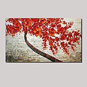人生の壁の芸術の手描きの油絵赤風景桜の木に延伸(ハングアップする準備ができて)
