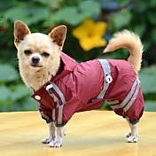 Perro Impermeable Ropa para Perro A Prueba de Agua Sólido Amarillo Rojo Verde Disfraz Para mascotas