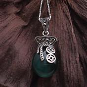 ファッション民俗スタイルのガーネットS925純銀製のペンダントネックレスの1組
