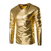 Hombre Deportes Casual/Diario Primavera Otoño Camiseta Un Color Manga Larga Algodón