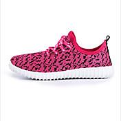 Mujer Zapatos Tela / Poliéster Primavera / Verano / Otoño Confort Zapatillas de Atletismo Running Tacón Plano Con Cordón / Lunares Gris /