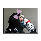 手描きの 動物 油彩画,欧風 / スタイル / Modern / クラシック / トラディショナル / リアリズム / 地中海風 / 田園 1枚 キャンバス ハング塗装油絵 For ホームデコレーション