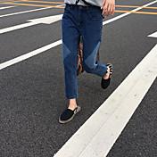Mujer Casual Vaqueros Pantalones - Color sólido