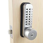機械式のドアロックと2つのキーによるホームセキュリティのためのデジタルコードパスワード入力ロックの組み合わせ
