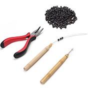 Peluca del pegamento adhesivo Pinzas Agujas para Microanillos Microanillos/Lazos Herramientas para Extensiones Keratine 4Herramientas