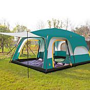 CAMEL > 8人 テント トリプル キャンプテント 3つのルーム 家族用テント 通気性 防水 抗紫外線 抗虫 特大の のために キャンピング >3000mm cm