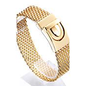 男性用 チェーン&リンクブレスレット ファッション ステンレス鋼 ゴールドメッキ 18K 金 幾何学形 ジュエリー 用途 クリスマスギフト