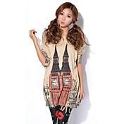 HANBELLE® Mujer Escote Redondo Manga Larga Suéter y Cardigan Blanco / Gris / Color Beige-6810#