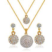 合金のブライダルジュエリーは、ネックレスのイヤリングのウェディングエレガントなスタイルを設定します.