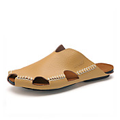 Hombre-Tacón Plano-Confort-Zapatillas y flip-flop-Informal-Semicuero-