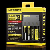 I4 Cargadores Ajustable Cargado rápido Alta calidad para Li-ion Hidruro metálico de níquel Cadmio de Níquel 26650, 22650, 18650, 17670,