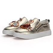 Chica Zapatos Cuero Primavera Otoño Bailarina Zapatos de taco bajo y Slip-On Paseo Cristal Lentejuela Purpurina para Casual Oficina y