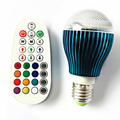 GU10 B22 E26/E27 LEDボール型電球 A60(A19) 3 LEDの ハイパワーLED 調光可能 音検知 リモコン操作 RGB 450lm RGBK AC 100-240V