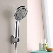 近代の シャワーのみ ハンドシャワーは含まれている with  セラミックバルブ シングルハンドルつの穴 for  クロム , シャワー水栓
