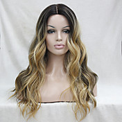 Synthetic Lace Front Wig Women's Wavy Mid...