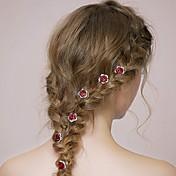 Brillante Legierung Bandas de cabeza Peinetas Flores Palillo del pelo Herramienta para el Cabello Celada