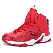 Hombre-Tacón Plano-Confort-Zapatillas de Atletismo-Exterior Informal Deporte-Cuero-Rojo Plata Oro Negro y Rojo