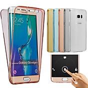 のために Samsung Galaxy ケース クリア ケース バックカバー ケース ソリッドカラー TPU Samsung A7(2016) / A5(2016) / A3(2016)
