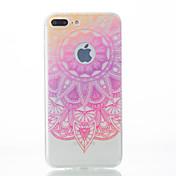 Funda Para Apple iPhone X iPhone 8 iPhone 7 iPhone 7 Plus iPhone 6 Diseños Cubierta Trasera Impresión de encaje Suave TPU para iPhone X