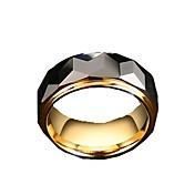Anéis Sem Pedra Fashion Diário / Casual Jóias Aço tungstênio Masculino Anéis Grossos 1pç,7 / 8 / 9 / 10 / 11 / 12 Dourado / Prateado