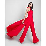 Funda / Columna Mono Halter Corte Raso Evento Formal Vestido con Plisado por TS Couture®