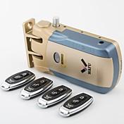 和風キーレススマート・リモートドアロック& 無線見えない盗難防止ロック& 4リモートキーでセキュリティドアロック
