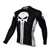 Maillot de Ciclismo Hombre Bicicleta Camiseta/Maillot Top Invierno Ropa para Ciclismo Secado rápido Resistente al Viento Diseño Anatómico