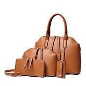女性 バッグ オールシーズン 牛側 バッグセット 4個の財布セット のために フォーマル ブラック ベージュ Brown ブルー ワイン