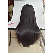 Mujer Pelucas de Cabello Natural Cabello humano Encaje Frontal Frontal sin Pegamento 130% Densidad Liso Peluca Negro Corto Medio Largo