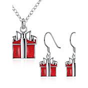 女性 ジュエリー クリスマス 日常 カジュアル 1×ネックレス 1×イヤリング(ペア)