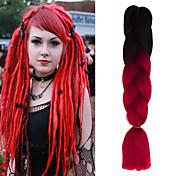Trenzas Jumbo Trenzas de cabello Trenzas crochet Trenzas de colores Cabello 100 % Kanekalon Cabello para trenzas Extensiones de cabello