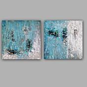 Pintada a mano Abstracto Modern Estilo europeo Lienzos Pintura al óleo pintada a colgar Decoración hogareña Dos Paneles
