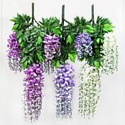 Rama Poliéster Plástico Plantas Flor de Mesa Flores Artificiales
