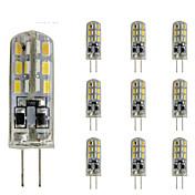 2W G4 LED2本ピン電球 チューブ 24 SMD 3014 144 lm レッド / ブルー / グリーン 明るさ調整 / 装飾用 DC 12 V 10個