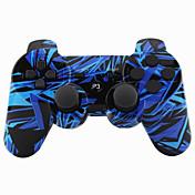 ワイヤレスジョイスティックbluetooth dualshock3 sixaxis PS3用多目的コントローラゲームパッド(マルチカラー)