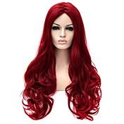 Mujer Pelucas sintéticas Sin Tapa Largo Muy largo Ondulado Natural Rojo Peluca natural Peluca de Halloween Peluca de carnaval Las pelucas