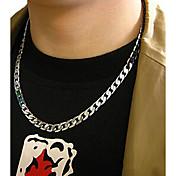 Hombre Collares de cadena Titanio Acero Moda joyería de disfraz Joyas Para Boda Fiesta Diario Casual
