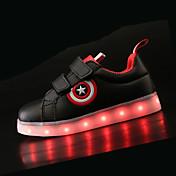 Chico Zapatos PU Primavera verano Confort / Zapatos con luz Zapatillas de deporte LED para Blanco / Negro