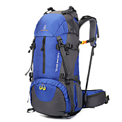 60 L バックパッキング用バックパック ハイキング用デイパック トラベルオーガナイザー バックパック 登山 レジャースポーツ キャンピング&ハイキング 旅行 防水 耐久性 高通気性 防湿 耐衝撃性の 布 ナイロン