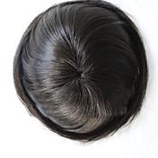 los hombres Toupee del pelo humano del pelo virginal recto natural 6 * 8 pulgadas