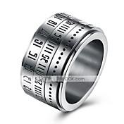 男性用 指輪 ジュエリー サークル コスチュームジュエリー ステンレス 円形 ジュエリー 用途 日常 カジュアル