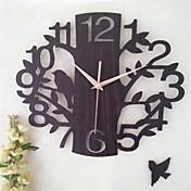 その他 その他 壁時計,円形 方形 ウッド 34*34 屋内 クロック