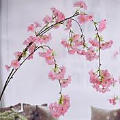 1 Rama Seda Sakura Flor de Pared Flores Artificiales