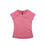 女性用 ランニングTシャツ 半袖 速乾性 高通気性 Tシャツ トップス のために ヨガ エクササイズ&フィットネス ランニング モーダル ポリエステル スリム ブラック グレー パープル フクシャ ライトグリーン S M L XL