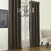 Un Panel Ventana Tratamiento Modern Un Color Sala de estar Poliéster Material Blackout cortinas cortinas Decoración hogareña