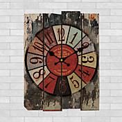 伝統風 田園風 レトロ風 フローラル キャラクター 音楽 壁時計,円形 屋内/屋外 クロック