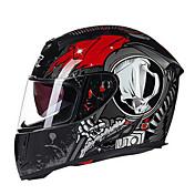 GXT g358 motocicleta casco lleno de doble lente anti-niebla casco de ABS para el hombre