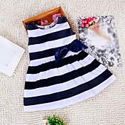 Girl's Doll Collar Stripe Dress