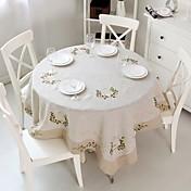 Redonda Quadrada Bordado Toalhas de Mesa , Linho MaterialFavor Dinner Decor Decorando o seu Lar Hotel Mesa de Jantar Wedding Party