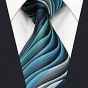 メンズ ヴィンテージ キュート パーティー オフィス カジュアル ネクタイ,シルク 幾何学模様,オールシーズン グリーン